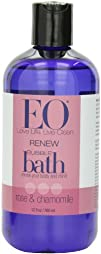 EO Renew Bubble Bath Rose   Chamomile 12 Ounce Packof 3
