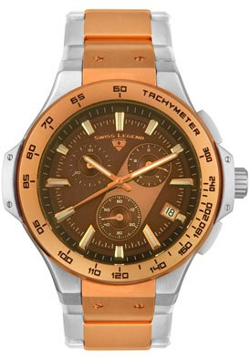 Swiss Legend Men's 40050-RS-44 Maverick Chronograph Rose Gold-Tone Watch
