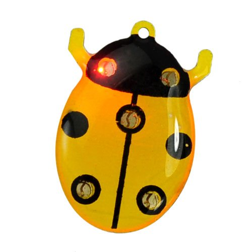Metro Shop Stylish Ladybug Design Colorful Shiny Magnet Led Flash Light Brooch Home Party Festival Christmas Decoration front-190295