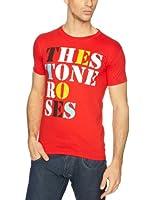 Stone Roses Men's Font Logo Short Sleeve T-Shirt