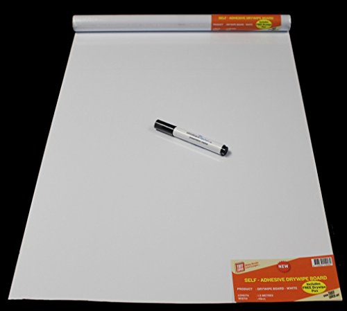 Self-Adhesive Drywipe Whiteboard Roll (1.5 meters)