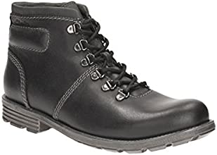 Clarks Mens Casual Darian Heath Leather Boots In Black