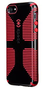 Speck Products CandyShell Grip Case for iPhone 5 & 5S - Retail Packaging - Black/Pomodoro Red