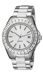 Esprit Dolce Vita Ceramic Women's Quartz Watch with White Dial Analogue Display and White Stainless Steel Bracelet ES105902001