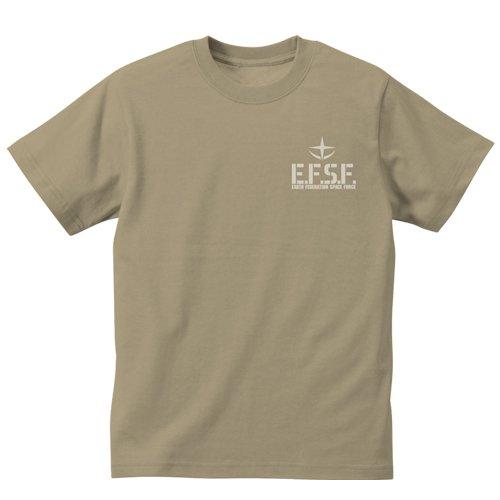 機動戦士ガンダム 連邦軍 ヘビーウェイトTシャツ サンドカーキ サイズ:S