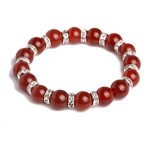 JDZ Amulets 10mm Chakra Stone Reiki Healing Beaded Elastic Stretch Handmade Crystal Bracelet (Amulet Crystal compare prices)