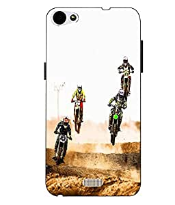 Case Cover Racing Bike Printed Multicolor Soft Back Cover For LYF WATER 11