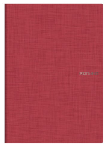 fabriano-a4-squared-stapled-notebook-rosso-red