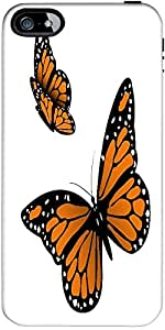 Snoogg Monarch Butterfly Designer Case Cover For Apple Iphone 5 / 5S