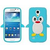 SKS Distribution® Hellblau Samsung I9190 Galaxy S4 Mini Pinguin niedlichen Tier Silikonhülle Shell Beschützer Handy Smartphone Zubehör