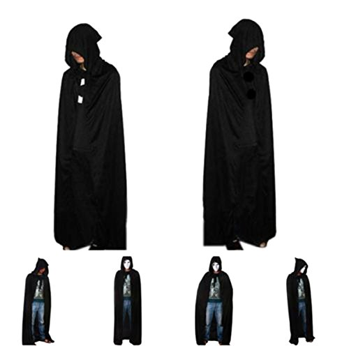 Lalang Hooded Cloak Wicca Robe Medieval Witchcraft Cape Halloween Costumes