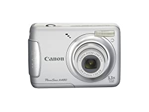Canon PowerShot A480 10 MP Digital Camera with 3.3x Optical Zoom and 2.5-inch LCD (Silver)