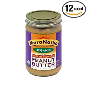 nSpired Organic Roasted Crunchy Peanut Butter with Salt, 16 Ounce -- 12 per case.
