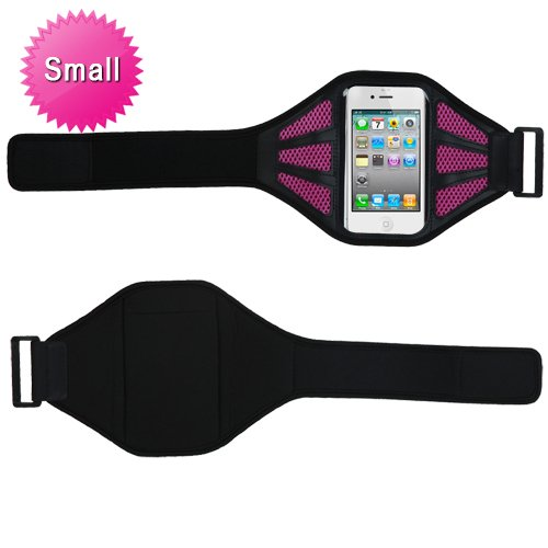 MYBAT Vertical Pouch Universal Black Sport Armband (with Hot Pink Mess Ports)(401)(NO Package) for APPLE iPhone 4S/4 APPLE iPod touch (4th generation) APPLE iPhone 3GS/3G SAMSUNG R920 (GALAXY ATTAIN 4G) SAMSUNG T769 (Galaxy S Blaze 4G) SAMSUNG I777 (Gala waterproof bag pouch w compass armband neck strap for iphone 5 4 4s camouflage green page 4