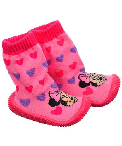 "Cheap Minnie Mouse ""Bow-tiful"" Lil Runners Non-Skid Socks (Infant Girls Sizes 24M) (NO STOCK LOCATION)"