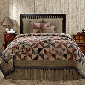 """4Pc Providence Antique Hand Quilted King Bedding Set 2 Shams 1 Burlap Pillow """"Simply Blessed"""" 15% Discount"""