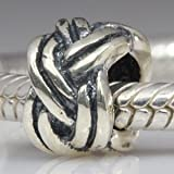 Forget Me Knot Charm Authentic 925 Sterling Silver Bead Fits Pandora Chamilia Biagi Troll Charms Europen Style Bracelets