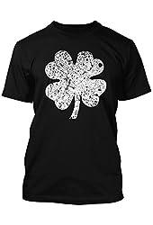 Distressed Irish Shamrock Clover Men's T-shirt