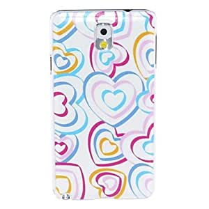 Kinston Heart Of The Ribbon Pattern Plastic Hard Case for Samsung Note3 in Multi-color