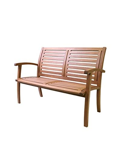 Outdoor Interiors Eucalyptus 4-ft. Luxe Bench, Brown