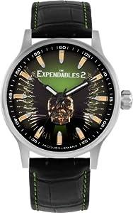 Jacques Lemans Unisex-Armbanduhr The Expendables 2 Analog Quarz Leder E-226