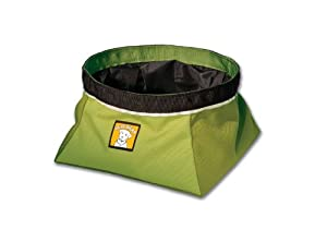 Ruffwear Quencher Collapsible Waterproof Travel Dog Bowl, Lichen Green from Ruffwear, Inc.