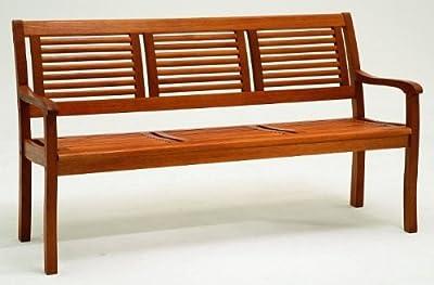 Gartenbank 3-Sitzer Eukalyptus-Holz von Zeus bei Gartenmöbel von Du und Dein Garten