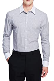 Pure Cotton Slim Fit Checked Shirt [T25-3688A-S]