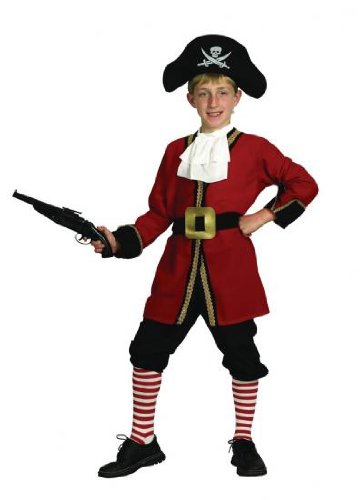 Pams Childrens Captain Hook Fancy Dress Costume - Large Size