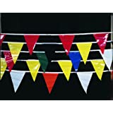 Mutual Industries 14991 60' MULTICOLOR Pennant Banner Flags (Pack of 10)