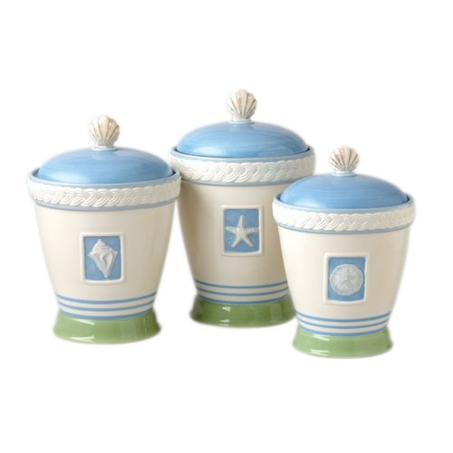 Pfaltzgraff Beachcomber Sealed 3-Piece Canister Set