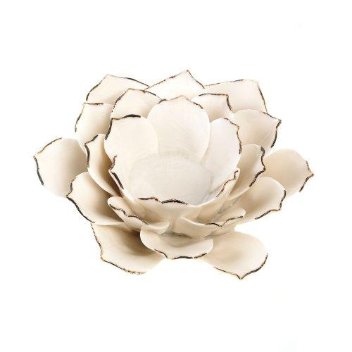 White Lotus Candleholder