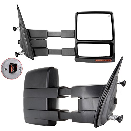 Carrep Tow Towing Mirrors Towing Side Mirror Telescoping Power Heated for 07-14 Ford F150 Pair (Dodge Mirror Extenders For Towing compare prices)