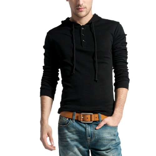Man 2013 Adjustable Drawstring Long Sleeve Pullover Pure Hoody
