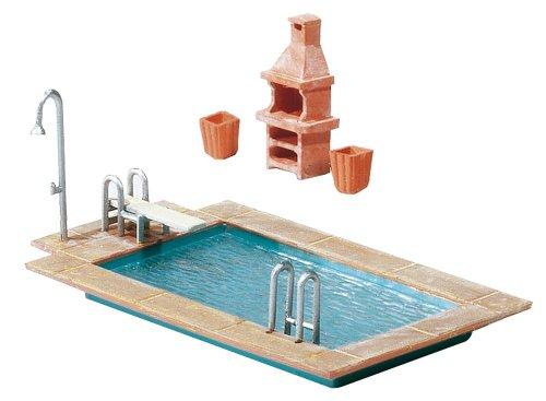 FALLER 180542 - Swimming-Pool + Gartenhaus