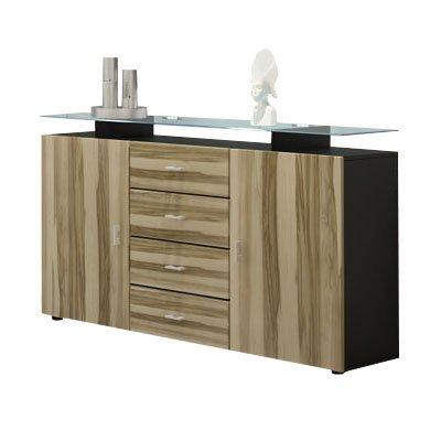 frunty buffet mesa en noir noyer am ricain coloris. Black Bedroom Furniture Sets. Home Design Ideas