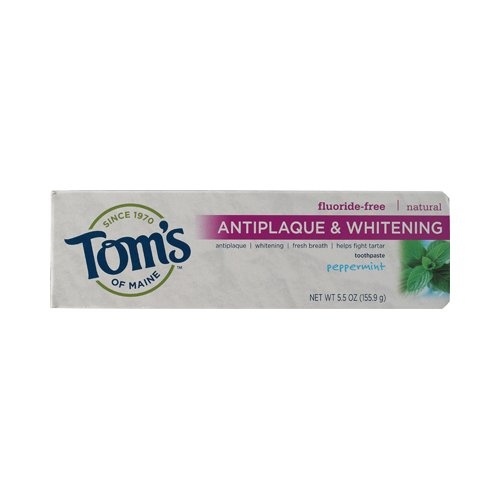 Tom'S Of Maine Antiplaque And Whitening Toothpaste Peppermint - 5.5 Oz - Case Of 6 Tom'S Of Maine A