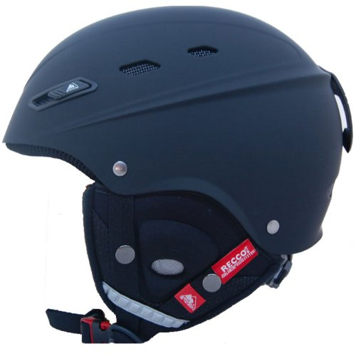 COX SWAIN ski snowboard helmet BONE with RECCO avalanche reflector, Colour: Black matt, Size: 52-56cm