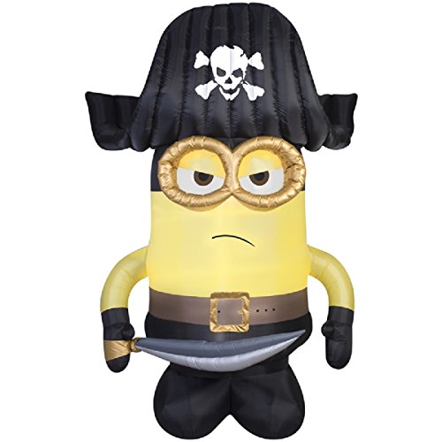 HALLOWEEN INFLATABLE 9 MINION PIRATE GEMMY OUTDOOR YARD PROP DECORATION