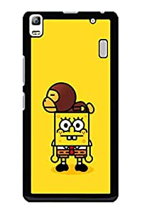 Caseque Angry SpongeBob Back Cover For Lenovo A7000