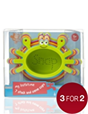 My Bathtime 7 Stack & Sieve Cups Toy Set