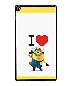 printtech I Love Minions Back Case Cover for Apple iPad 6
