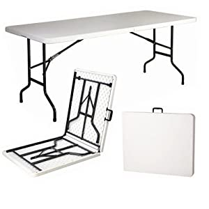 Entity 6ft folding table. A really handy table. Especially popular with home users, education establishments, exhibition organisers, boot sales, community centres and caterers.