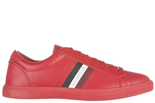 Moncler scarpe sneakers uomo in pelle nuove rosso EU 39 LA MONACO