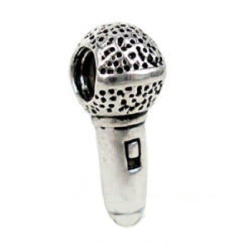 "Eveserose(Tm) Silver ""Microphone Singer"" Bead Sterling Charm Fits Pandora & Similar Bracelets"
