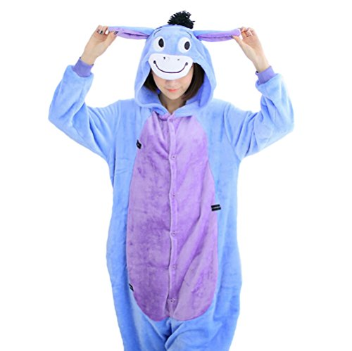 [QinYing Cartoon Sleepsuit Adult Casual Pajamas Party Cute Donkey Cosplay Costumes] (Scoobydoo Adult Plus Costumes)