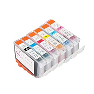 Sophia Global Compatible Ink Cartridge Replacement for Canon BCI-6 (1 Black, 1 Cyan, 1 Magenta, 1 Yellow, 1 Light Cyan, 1 Light Magenta)