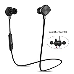 UMI Bluetooth Headphone Magnetic Earbuds Wireless Headset with 8-Hour Playtime and IPX6 Sweatproof for Sports