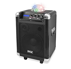 Pyle PCMX280B Disco Jam 400 Watt Bluetooth 10-Inch Portable PA Speaker System, Built-in Rechargeable Battery, Headset and Mic by Sound Around