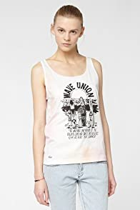 L!VE Sleeveless Watercolor Printed Jersey Tank Top